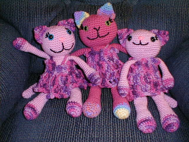Crochet Kitten Stitch : Stitch n Frog: For Sale - Amigurumi Kitty Dolls