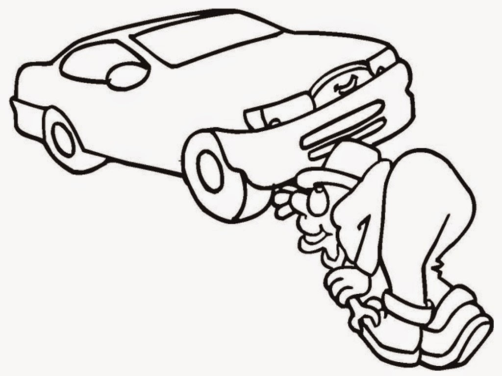 coloring pages of mechanic