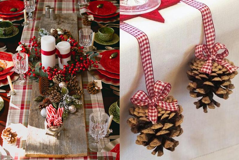 dekoracje świąteczne szyszki
