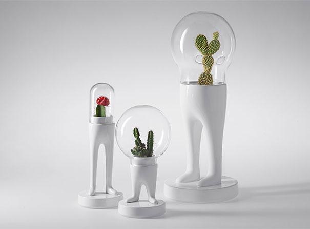 Vasos originais para plantas por Mateo Cubic