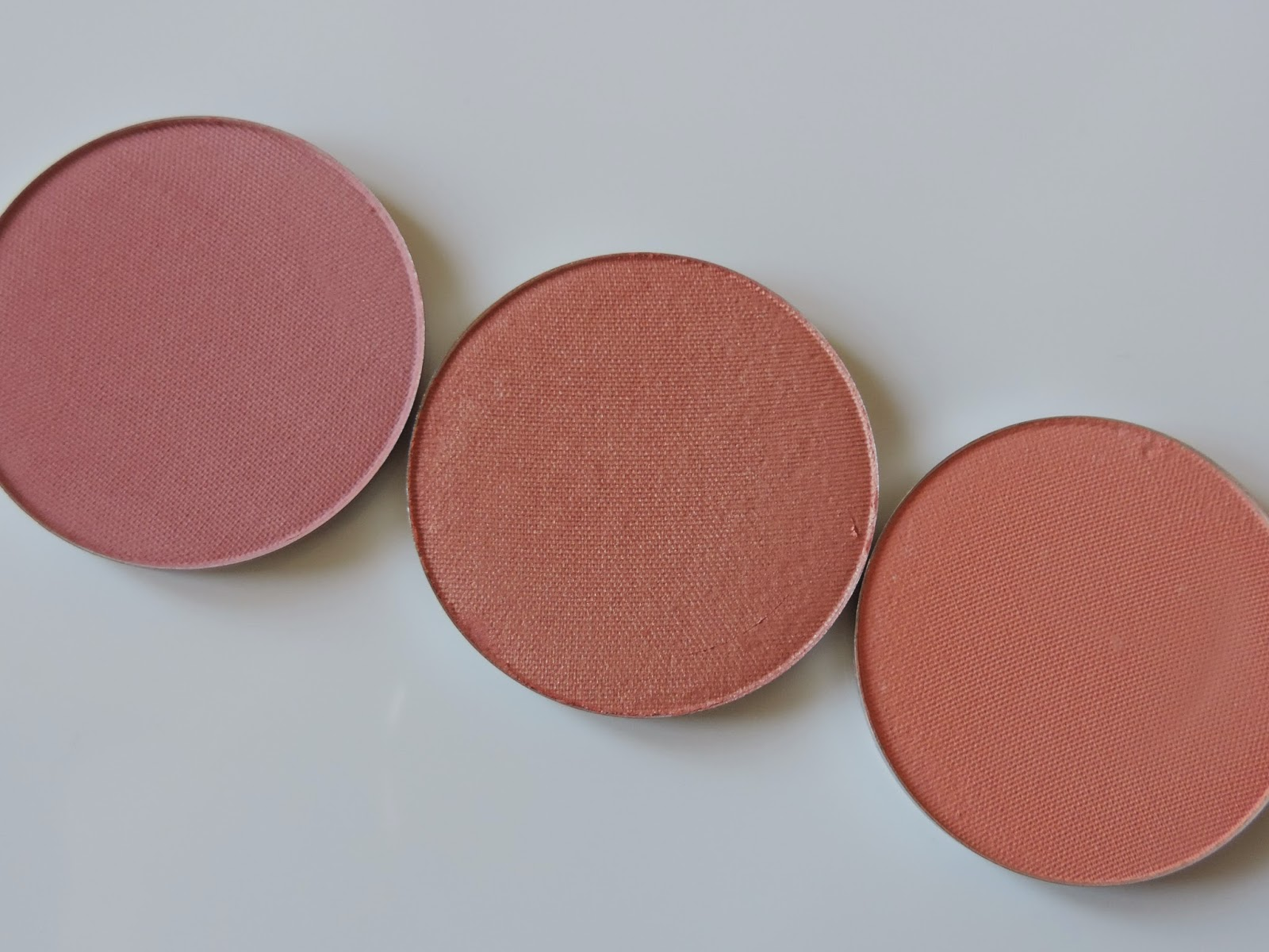 Makeup Geek blush (from left) Spell Bound, Romance, Bliss