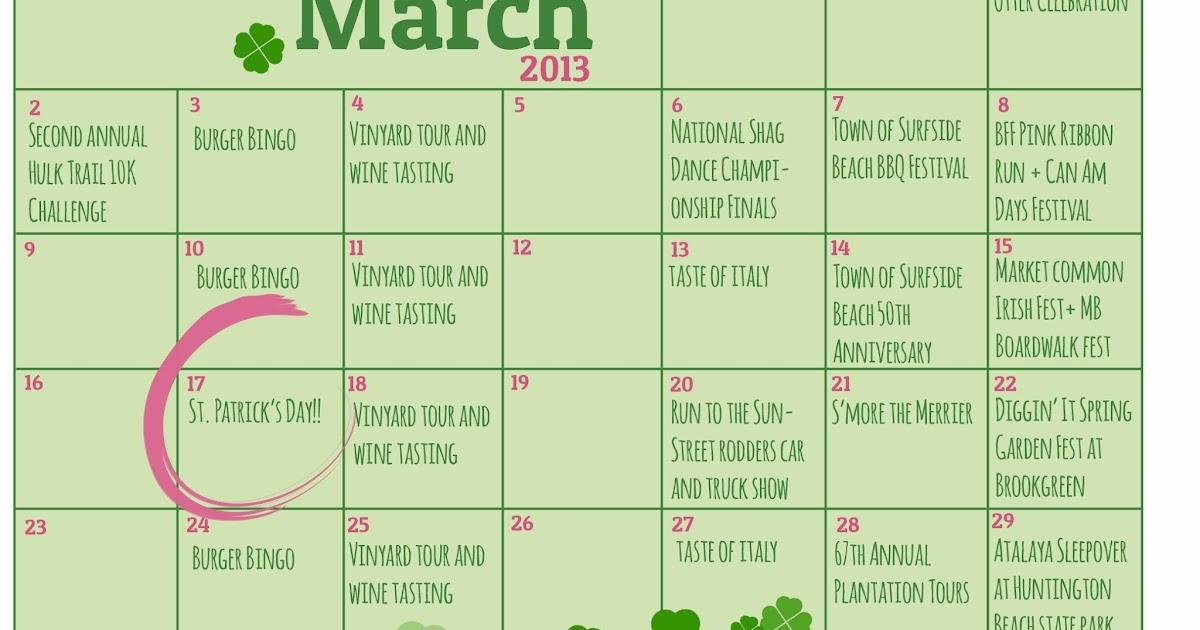 Plantation Resort Insider March Calendar Of Events There 39 S Always Something To Do In Myrtle Beach