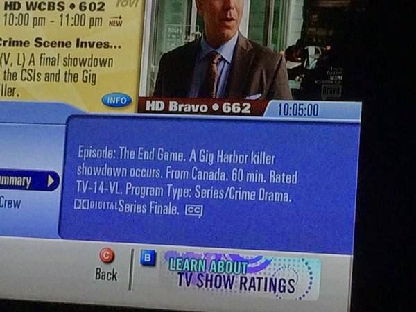 "CSI - CBS Accidentally Promotes Next Week's Episode as ""Series"" Finale"