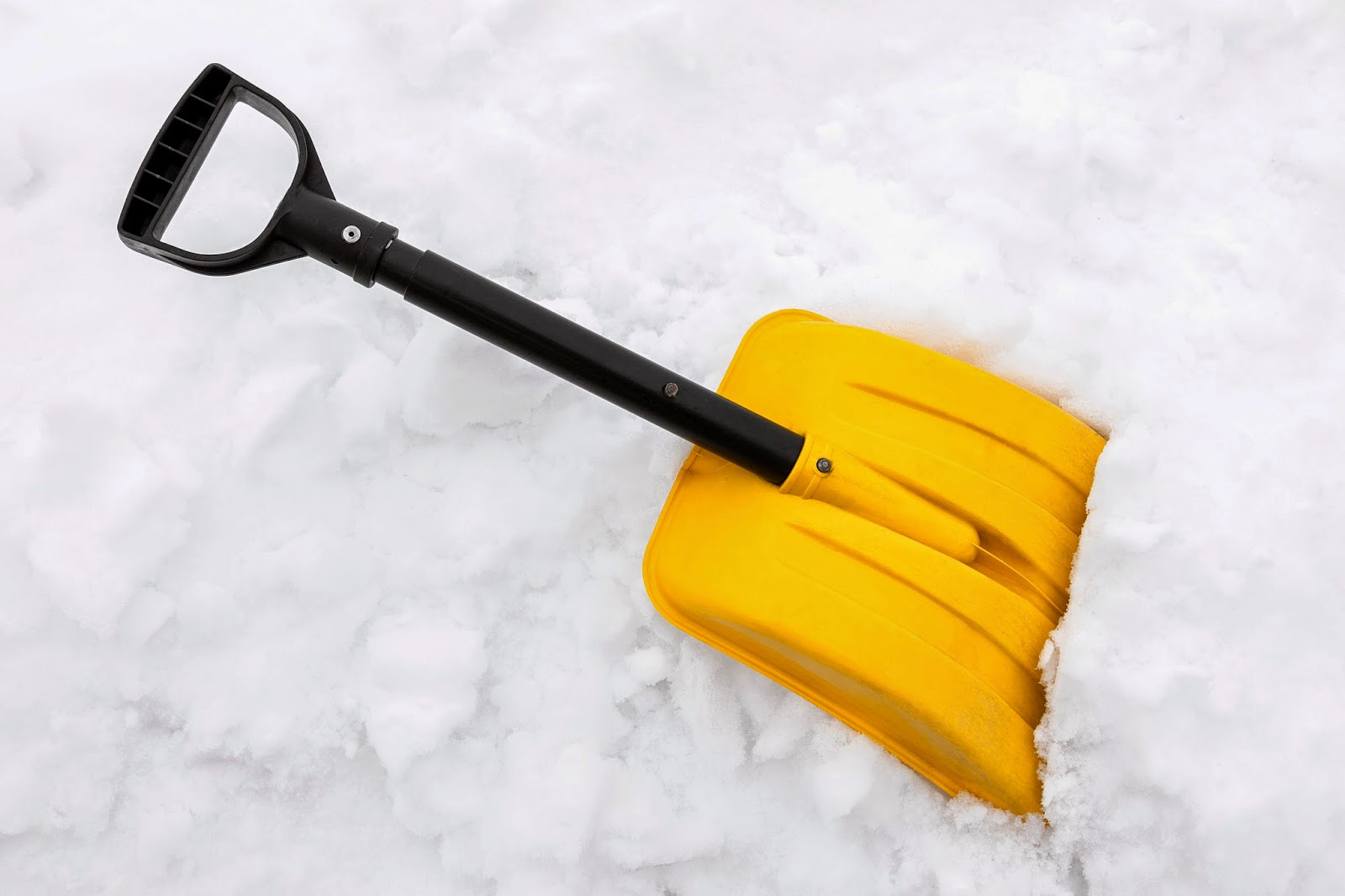how to clean up snow