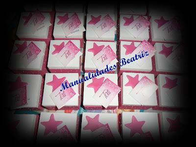 Realizamos Estas 90 Cajitas De Madera Con Aplique De Estrella En