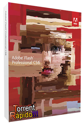 Capa 3D do Programa Adobe Flash Professional CS6