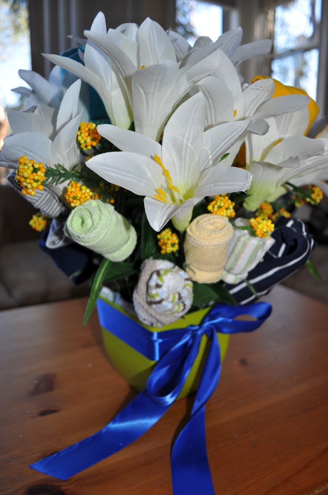 My scrappy life baby onesie bouquet tutorial izmirmasajfo