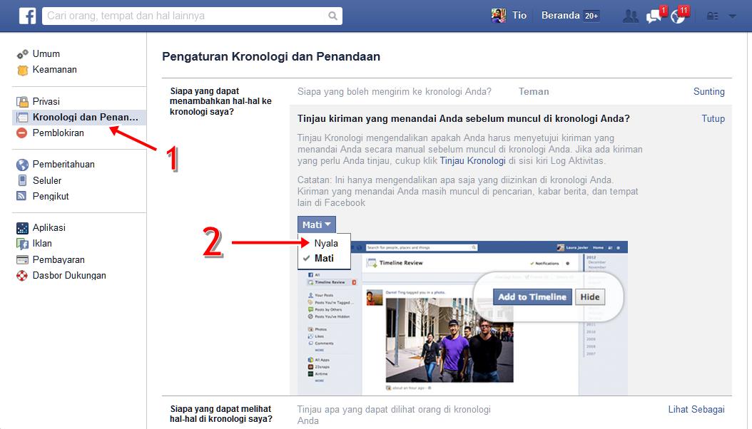 Cara Agar Facebook Kita Tidak Bisa di Tandai Sembarangan