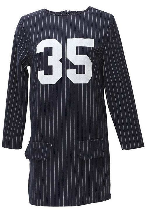 Pinstriped School Girl Dress