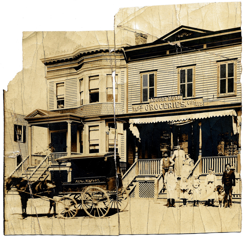 Rare vintage photos of stores in victorian era vintage for Home goods in yonkers