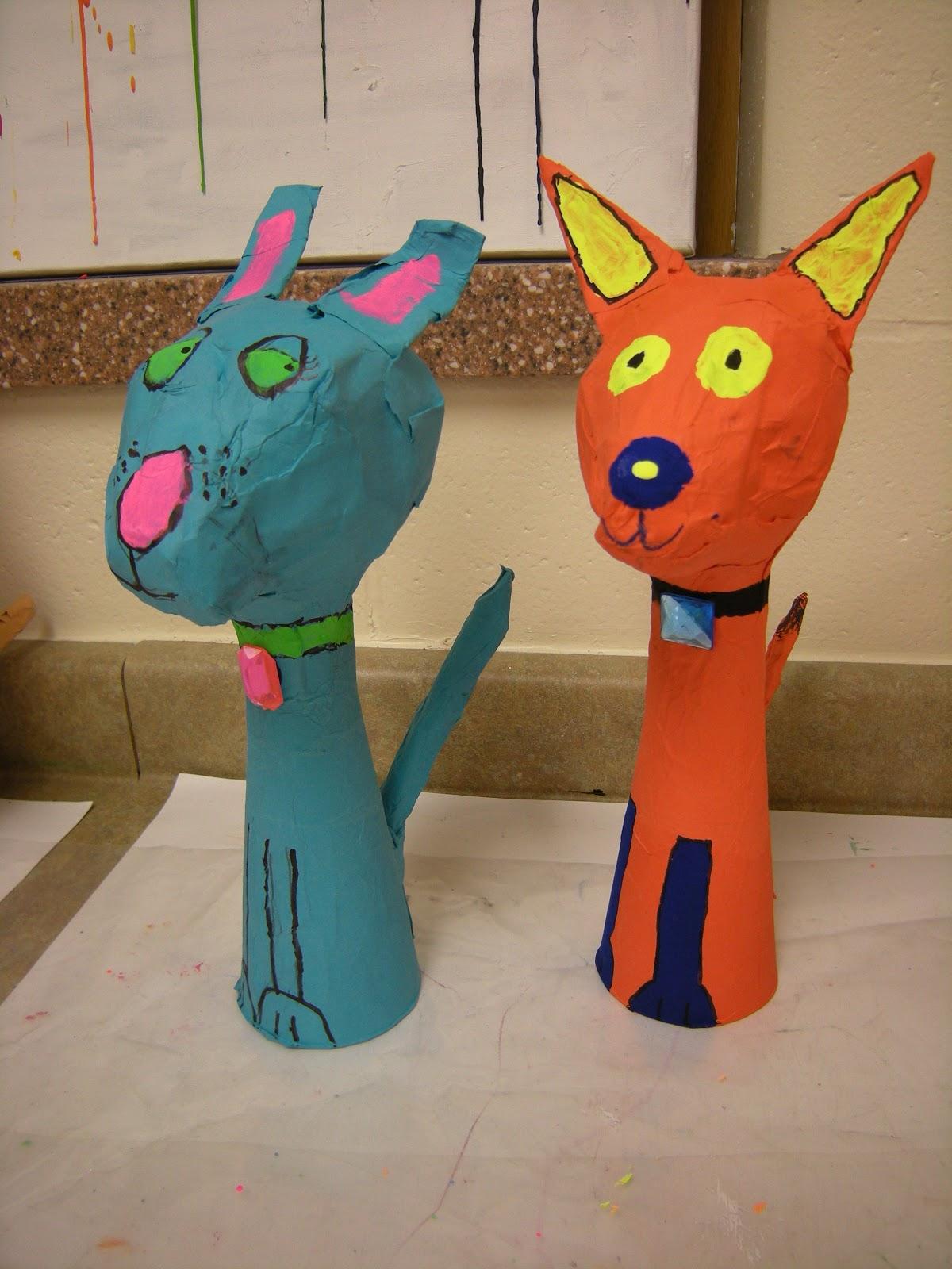 Artolazzi papier mache pets for Paper mache ideas for kids