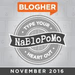 November NaBloPoMo