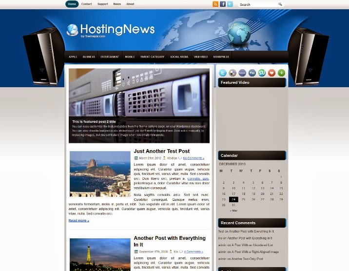 HostingNews Free WordPress Theme