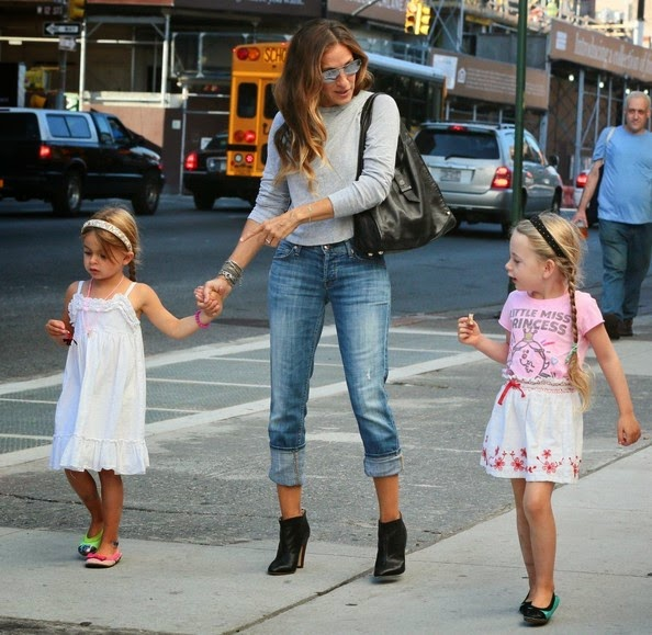 SJP's Twins' Back-to-School Look