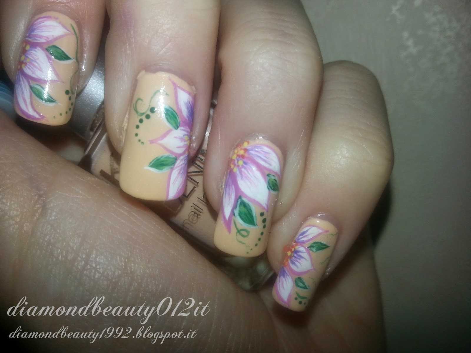 nail art fiori 2015 tutorial step by step con smalto kiko