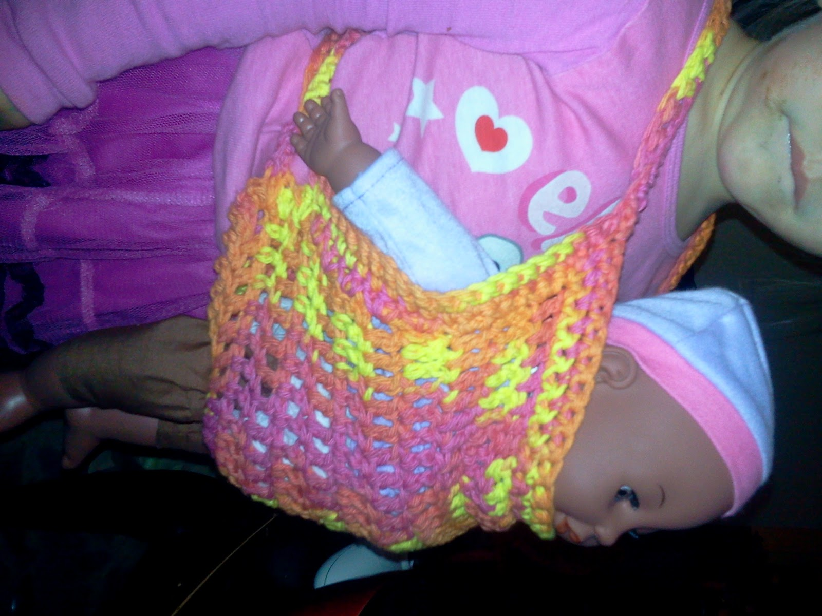 Free Crochet Pattern Doll Carrier : StormFly Crafts: Crochet Baby Doll Carrier