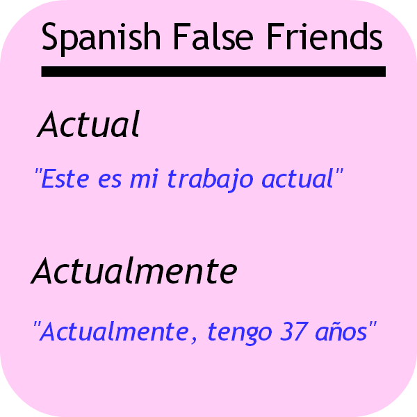 Spanish false friends: actual and actualmente. Visit www.soeasyspanish.com  #español #learnspanish #language