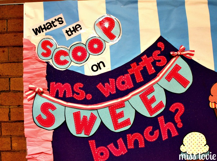 Miss Lovie Ice Cream Bulletin Board And Ruffle Border
