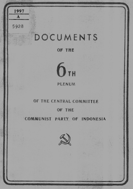 CC PKI (1958) - Documents of 6th Plenum CC PKI