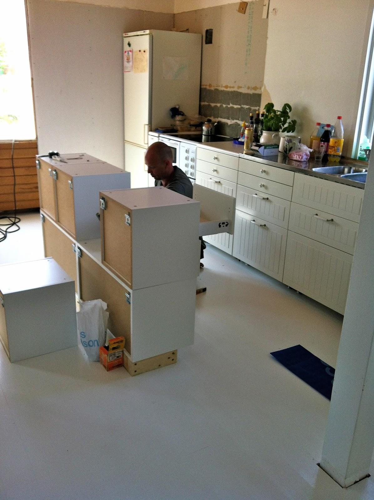 Bygga köksö av ikea skåp