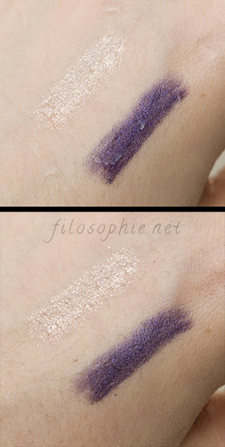 LOVELY ME:EX MAKE ME STAR WATERPROOF GEL LINER in disco purple and peach waterproof test