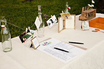 texas wedding welcome table