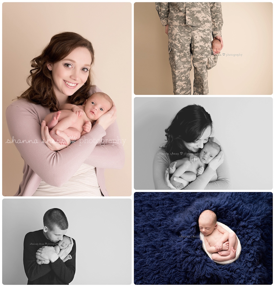 eugene springfield oregon newborn photography military parents