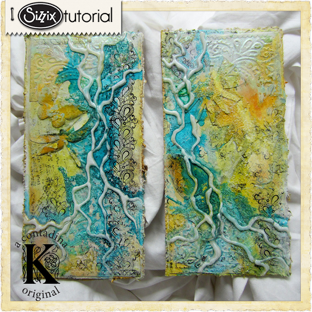 Sizzix Die Cutting Tutorial: Mixed Media Upcycled Corrugate Art Panels by Vivian Keh
