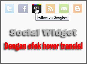 Social Widget Dengan Hover Transisi