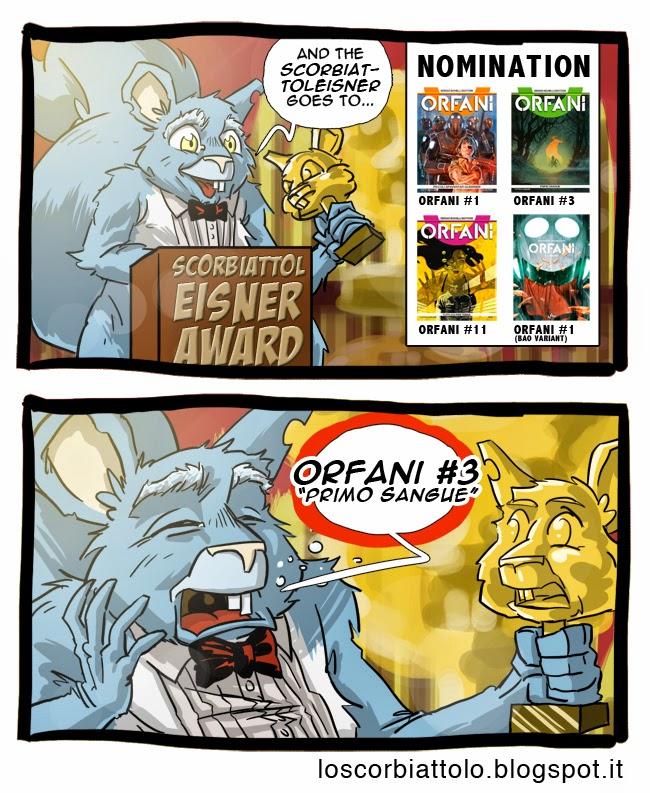 scorbiattolo eisner award premio orfani cover copertina carnevale 3 bonelli