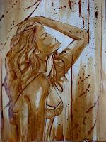 """""""Fragrance"""", quadro realizzato in caffè su cartoncino Fabriano 33x48cm"""