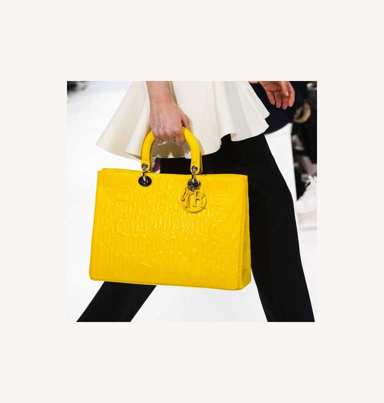 Yellow Christian Dior Bag FW14 | Allegory of Vanity