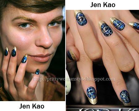 Jen Kao Златен френски маникюр
