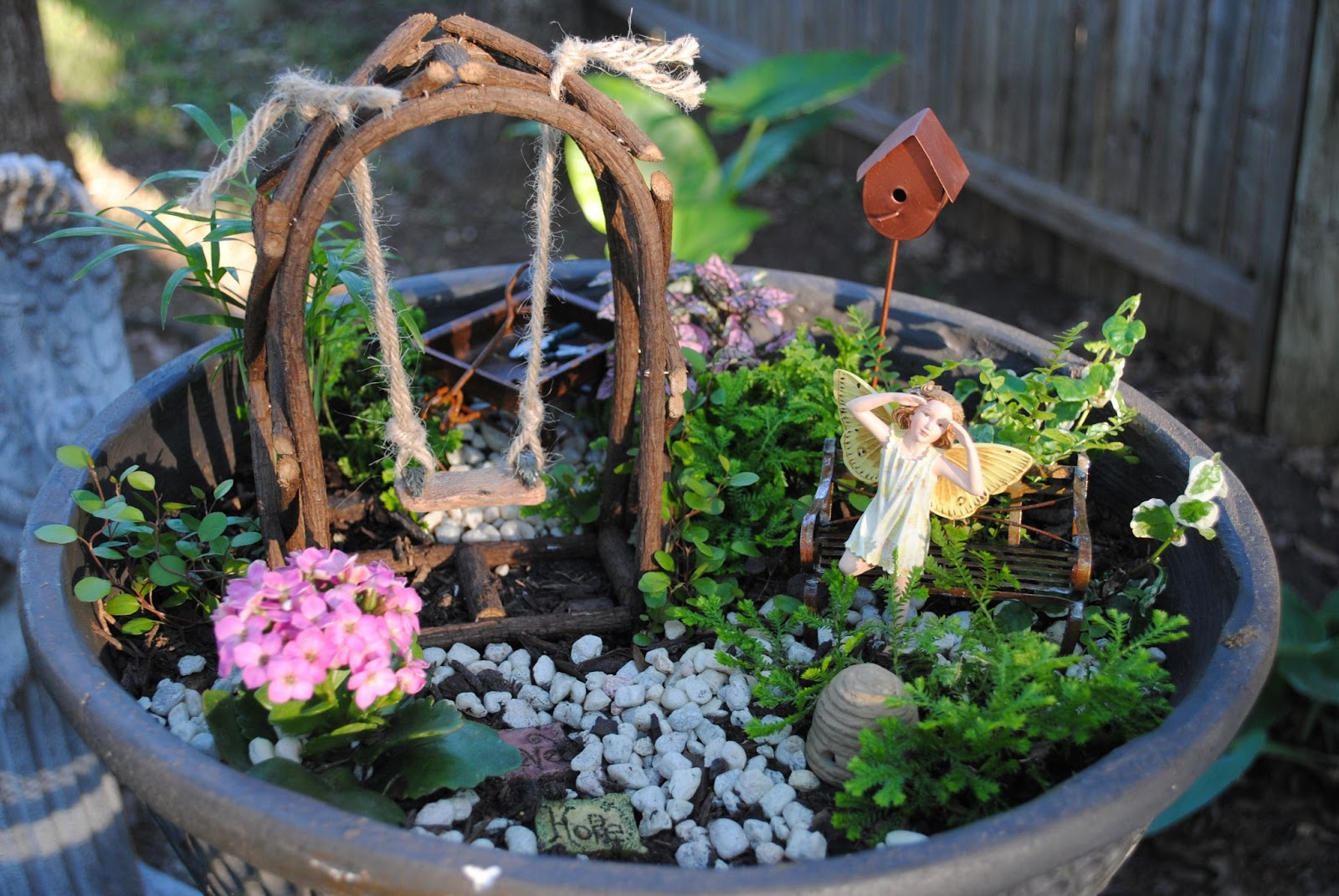 A sassy scrapper miniature fairy garden part 4 of 4 Small garden fairies