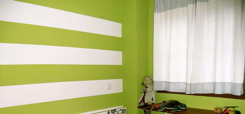 Cosas de palmichula mariana y sus buenas ideas de decoraci n - Pintar pared a rayas horizontales ...