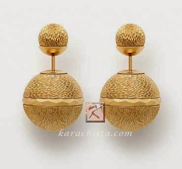 Mise en Dior Tribal earrings - gold wire