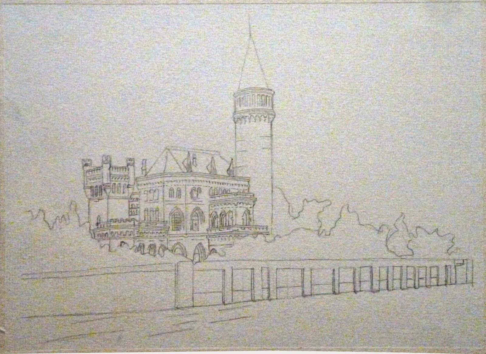 Boceto del desaparecido Palacio del conde Ripalda - Valencia