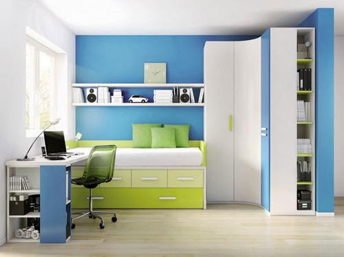 contemporary white blue corner wardrobe kids bedroom furniture
