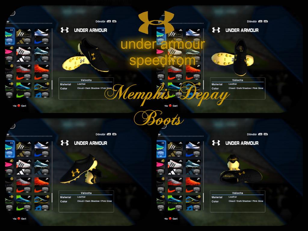218 Pes 2013 Under Armour Speedform Memphis Depay Boots Black