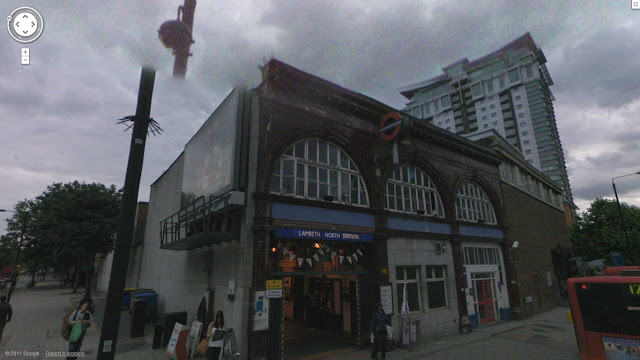 Lambeth North station on the Bakerloo line of the London Underground