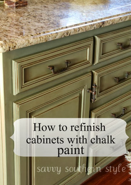 Savvy southern style kitchen cabinets tutorial for Brushed sage kitchen cabinets