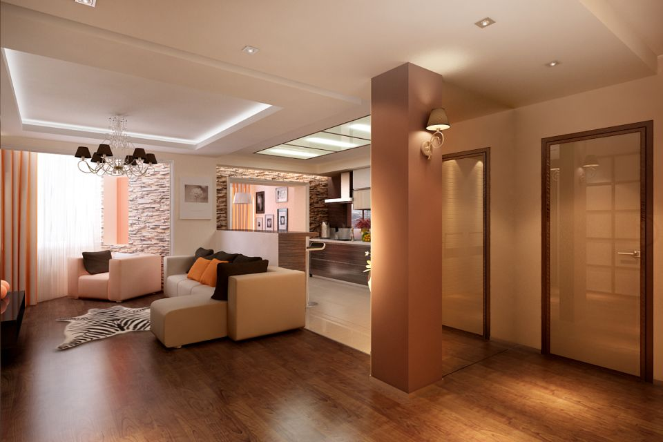 Дизайн интерьера, ремонт и отделка квартиры Студия