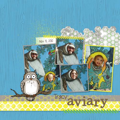 MDS Blog Hop: Owl Scrapbook Page