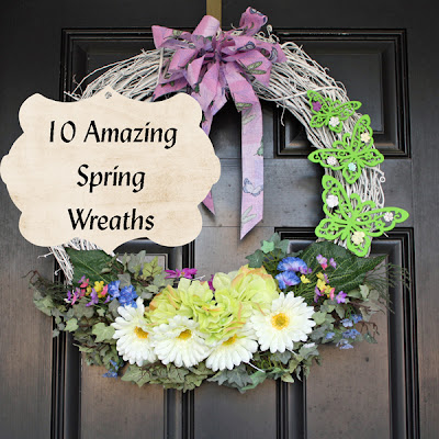 Southern scraps 10 amazing spring wreaths for Amazing wreaths