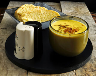 almond carrot soup