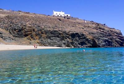 Fokos Beach is one of Mykonos' best-kept secrets in Greece. #mojotravels