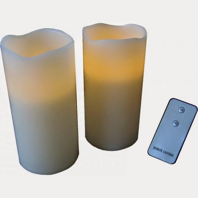 Velas LED con mando a distancia