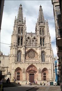 Portada de la Catedral de Burgos, con las torres de Juan de Colonia