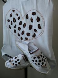 Conjunto Corazón Leopardo
