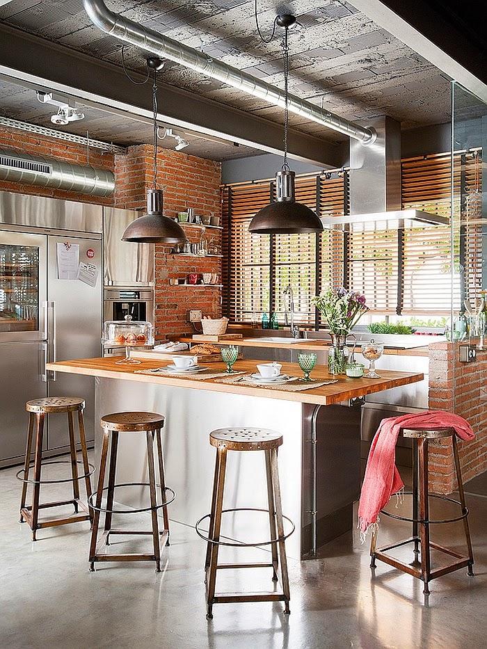 Um loft industrial em barcelona design innova - Loft industrial barcelona ...